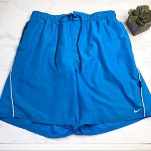 Men's Nike two tone swim trunks, lots of pockets
